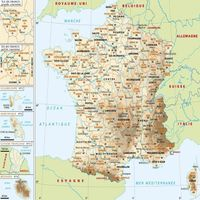 carte france villes relief