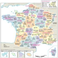 carte departements france