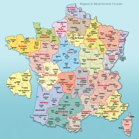 carte france departements villes