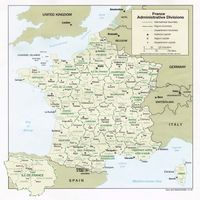 carte france administratives capitales